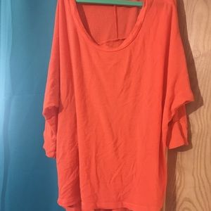 Baggy shirt in orange tangerine